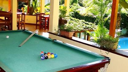 Guesthouse with swimming pool, Sauna, games room and Bar.