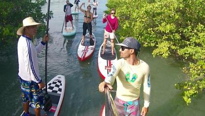 Stand Up Paddle na Lagoa de Guarairas